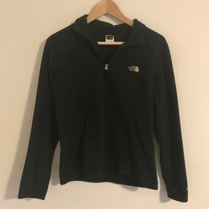 North Face Womens Quarter Zip Black Fleece